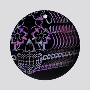 Ghastly Sugar Skull Ornament (Round)