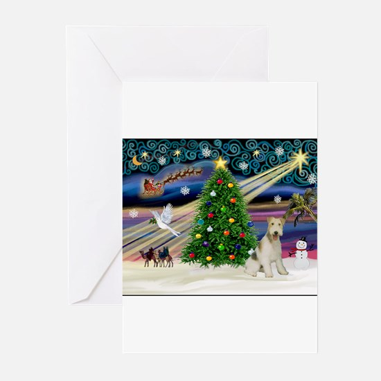 Cute Fox terrier christmas Greeting Cards (Pk of 20)