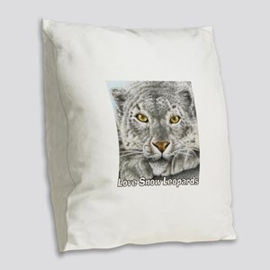 Love Leopards Burlap Throw Pillow