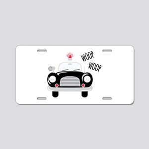 Siren Woop Aluminum License Plate