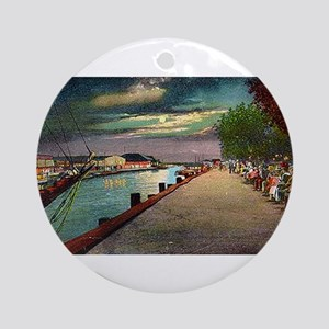 Spanish Fort in the Moonlight Ornament (Round)