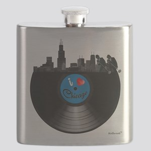 I Love Chicago Flask