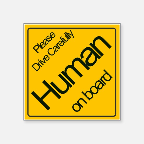 Human On Board Sticker