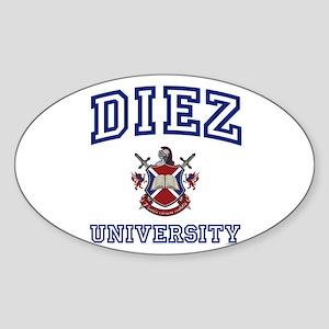 DIEZ University Oval Sticker