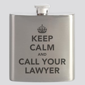 Keep Calm And Call Your Lawyer Flask