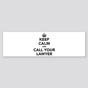 Keep Calm And Call Your Lawyer Sticker (Bumper)