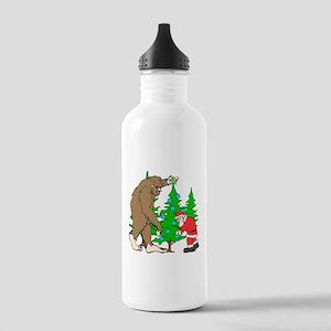 Bigfoot, Santa Christm Stainless Water Bottle 1.0L