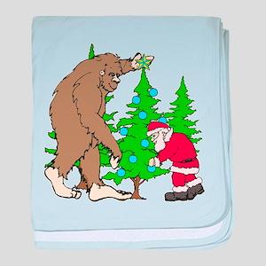 Bigfoot, Santa Christmas baby blanket
