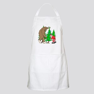 Bigfoot, Santa Christmas Apron