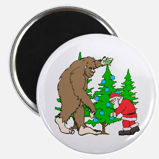"""Bigfoot, Santa Christmas 2.25"""" Magnet (10 pack)"""