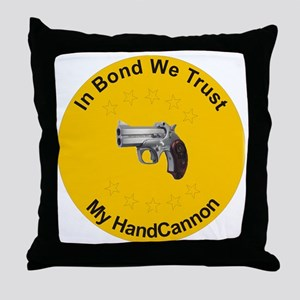 Hand Cannon Throw Pillow