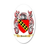 Hancell 20x12 Oval Wall Decal