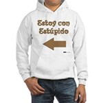 Estoy con Estupido Left Hooded Sweatshirt