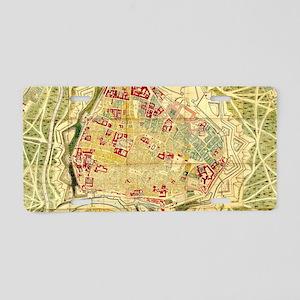 Vintage Map of Vienna Austr Aluminum License Plate