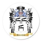 Hamshaw Round Car Magnet