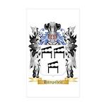 Hampsheir Sticker (Rectangle 50 pk)