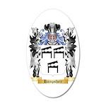Hampsheir 35x21 Oval Wall Decal