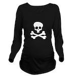 Bubba Teeth & Bones Long Sleeve Maternity T-Shirt