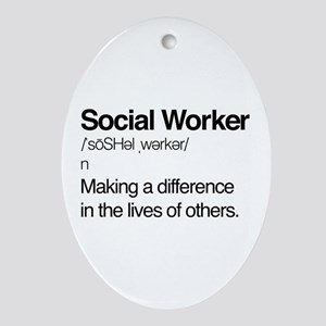 Social Worker Definition Oval Ornament