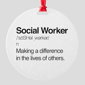 Social Worker Definition Ornament