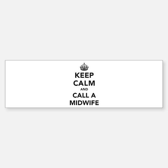 Keep Calm and Call A Midwife Sticker (Bumper)