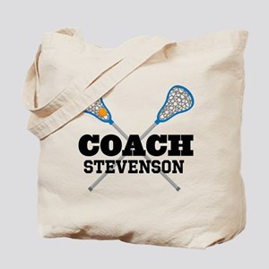 Lacrosse Coach Personalized Tote Bag