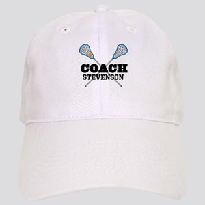 Lacrosse Coach Personalized Baseball Cap