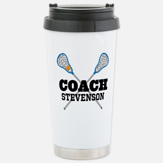 Lacrosse Coach Personalized Travel Mug