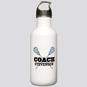 Lacrosse Coach Personalized Water Bottle