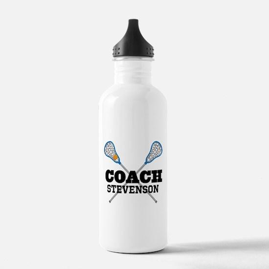 Lacrosse Coach Personalized Water Bottle