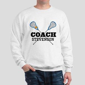 Lacrosse Coach Personalized Sweatshirt