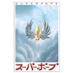 HUGE Angel SuperPope painting poster
