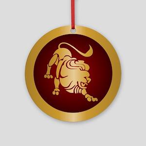 Leo Gold Ornament (Round)