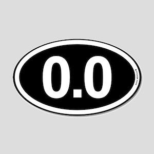 Black White 0.0 Zero Maratho 20x12 Oval Wall Decal