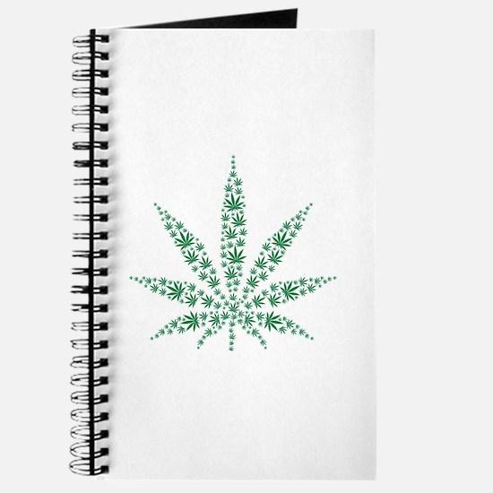 Marijuana leafs Journal