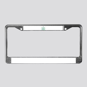 Marijuana leafs License Plate Frame