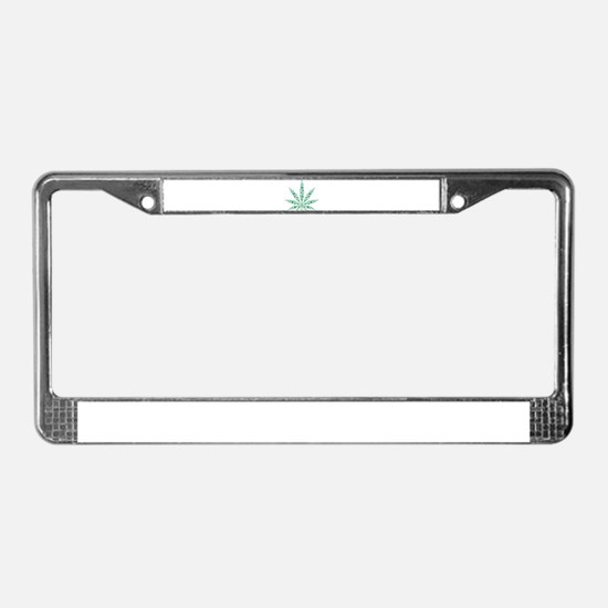 Marijuana leafs License Plate Frame