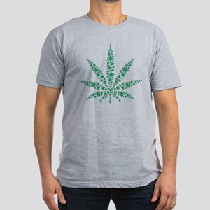 Marijuana leafs Men's Fitted T-Shirt (dark)