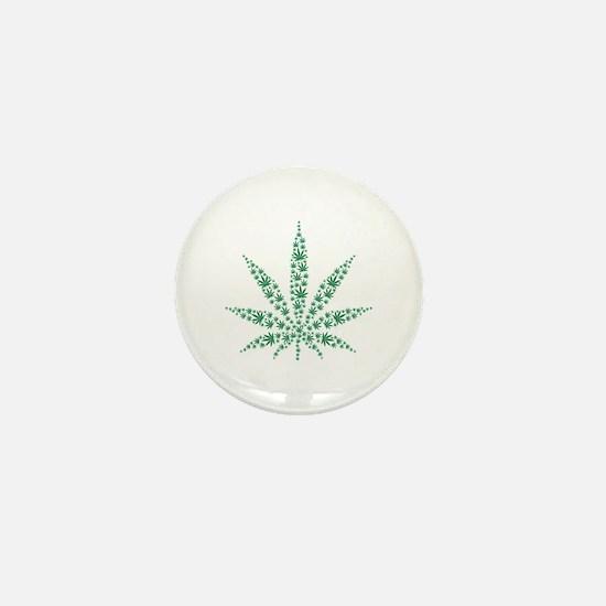 Marijuana leafs Mini Button