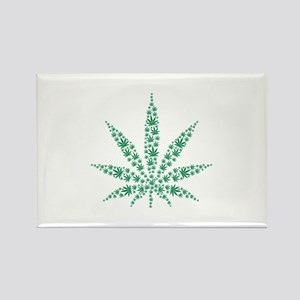 Marijuana leafs Rectangle Magnet
