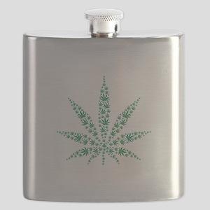 Marijuana leafs Flask