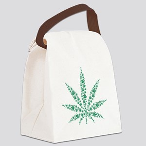 Marijuana leafs Canvas Lunch Bag