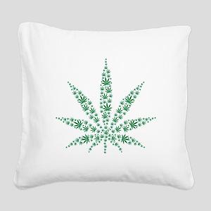 Marijuana leafs Square Canvas Pillow