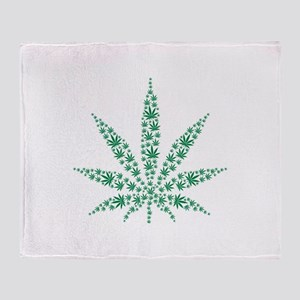Marijuana leafs Throw Blanket