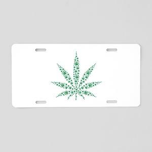 Marijuana leafs Aluminum License Plate