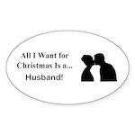 Christmas Husband Sticker (Oval 10 pk)