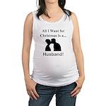 Christmas Husband Maternity Tank Top