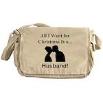 Christmas Husband Messenger Bag