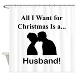 Christmas Husband Shower Curtain