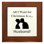 Christmas Husband Framed Tile